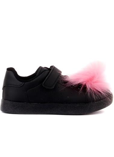 Cool 19-S11 Kız Çocuk Siyah Günlük Spor Ayakkabı Siyah